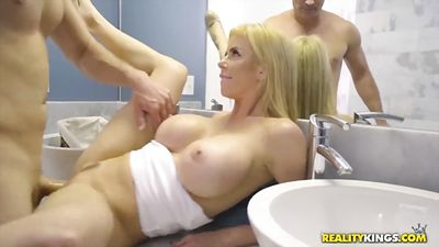 Alexis Fawx saw the huge cock and began to fuck....