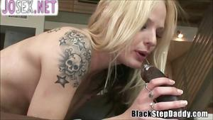 Black stepdad Fucks anal with white stepdaughter