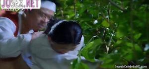 Чхве Сон Ми трахается с любовником на сеновале