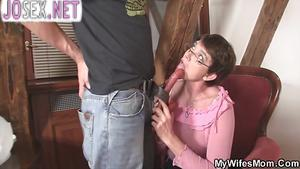 Horny mother in law Fucks son in law