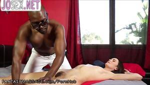 Inflated the Negro masseur Fucks Mature client....