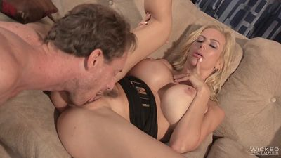 Mature Busty blonde fucked with a friend of his beloved