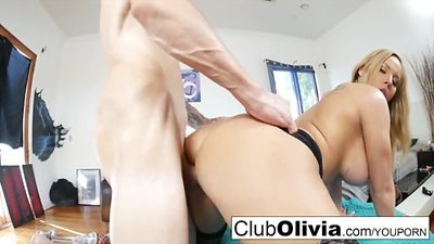 Olivia Austin with big Tits loves huge cock