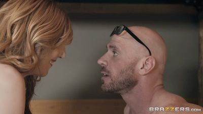 Redhead Lauren Phillips Fucks with a bald in his fantasies