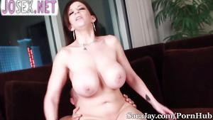 Sara Jay with big hanging Boobs Fucks with her lover.