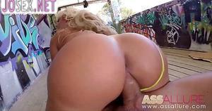 Сперма в красивой жопе Блонди Fesser...