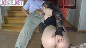 Student Fucks sexy milf experienced drunk Russian brunette....