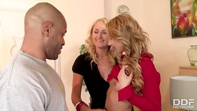 Sugar blonde fucking a handsome black man...