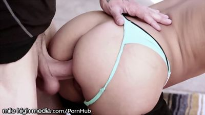 The girl coach Fucks a student with high...